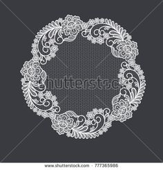 lace flowers decoration element - New Deko Sites Henna Patterns, Fabric Patterns, Gold Embroidery, Embroidery Designs, Fabric Stiffener, Victorian Wallpaper, Parchment Craft, Mothers Day Crafts, Lace Making