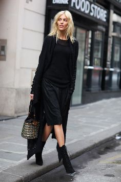Anja Rubik - layers in black