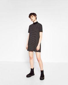 ZARA - WOMAN - HIGH NECK STRIPED DRESS
