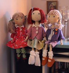 Handmade Cloth Art Collectable Fabric Craft Rag Doll By Tawnys Tots | eBay
