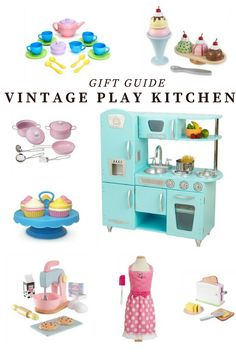 This Vintage Kitchen set would be the perfect Christmas Gift. These toys are sure to get played with over and and over again!