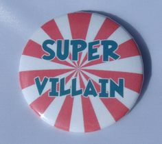 'Super Villian' Anti-Hero Fridge / Toolbox / Locker Magnet, 2.25' *** Check out this great product.