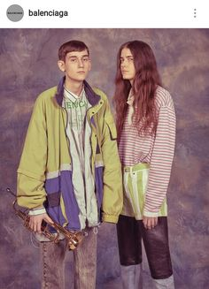 The guy with trumpet looks like he's begging for money near post soviet subway station for his 7 hungry siblings.  #balenciagamen #springsummer18  It's funny but also sad. Thought provoking, I guess.  #fashion #balenciaga #demnagvasalia #lottavolkova
