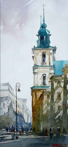 59 ideas landscaping city watercolor for 2019 Watercolor City, Watercolor Sketch, Watercolor Landscape, Watercolour Painting, Watercolours, Watercolor Architecture, Architecture Art, Architecture Details, Cool Sketches