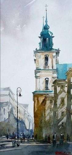 Rafal Rudko WATERCOLOR #watercolor jd