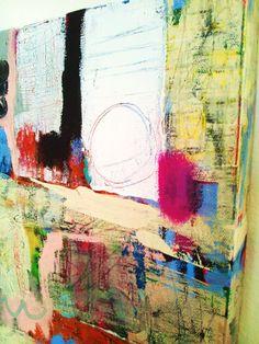 Colorful Original acrylic mixed media ABSTRACT Painting. $85.00, via Etsy.
