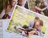 Photo Save the Date Cards - Announcements - Wedding Engagement - 5x7. $25.00, via Etsy.