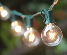String lights and lights on pinterest - Luces patio exterior ...
