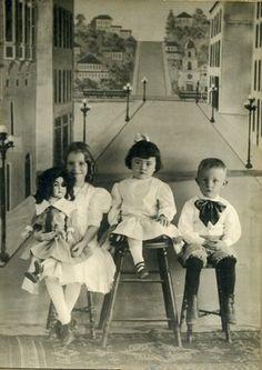 Children Vintage Doll Street Scene Backdrop Antique Photo Pomona California   eBay
