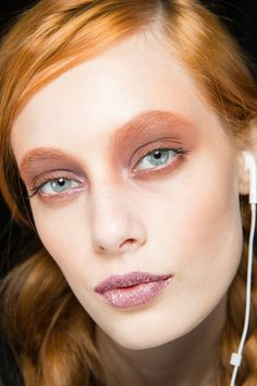 shimmery pink & brown at rodarte fall 2014