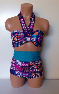 Aztec halter retro bathing suit  on Etsy, $95.80 CAD