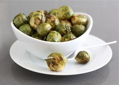 Roasted Brussels Sprouts with Balsamic Vinegar Recipe on twopeasandtheirpod.com The perfect side dish for the holidays!