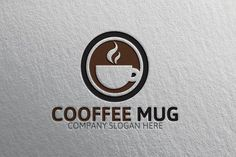 Cooffee  Mug Logo by Josuf Media on @creativemarket