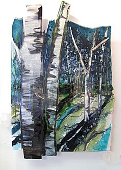 A kiln fired fused glass artist who designs landscape panels in glass, either free-standing or wall art. Located in Rhode Island, Alice Benvie Gebhart specializes in the northeast gardens, beaches and trees. Glass Wall Art, Fused Glass Art, Stained Glass Art, Mosaic Glass, Landscape Glass, Glass Plaques, Slumped Glass, Glass Design, Glass Jewelry