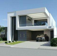 House Outer Design, Modern Small House Design, Modern Exterior House Designs, House Front Design, Dream House Exterior, Exterior Design, Modern House Facades, Modern Architecture House, Modern House Plans