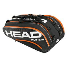 The Head Tour Team Monstercombi Tennis Bag  is a functional option for the competitive tennis player. The Tour Team    Monstercombi features a two large main racquet compartments with a zippered mesh pocket that can hold up to 8 racquets. An additional racquet compartment with CCT racquet   protection    against extreme temperatures holds up to 5 racquets. This high performance offers two extra accessory compartments for your personal items and a detachable wet bag. Bag has two adjustable…