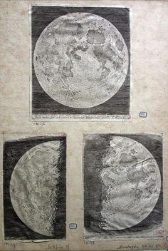 Claude Mellan (1598-1688), Pierre Gassendi (1591-1655) Tre carte della Luna, 1637 Abbeville, Musée Boucher-de-Perthes