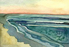 Unfold...Retreat ~ Original watercolor by  Shell Rummel ©Michelle Rummel shellrummel.com