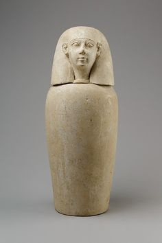 Canopic jar with human head (Imsety), ca. 800–650 BC. Egypt