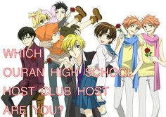 Which Ouran High School Host Club Host Are You? I got honey