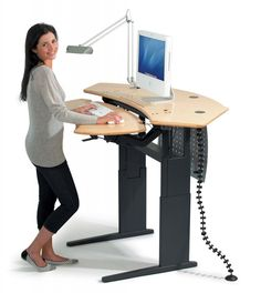 Charmant Dania   Transform The Way You Work With Our Network Plus Sit/Stand Desk.  Sleek, Modern And Versatile, Featuring A Motorized Heightu2026
