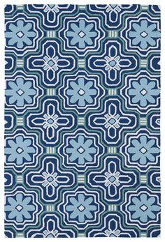 Matira Blue Indoor/Outdoor Area Rug