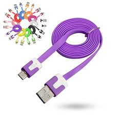 3ft Micro USB 2.0 Noodle Flat Data Sync Charger Cable Cord for Galaxy S4 S3 Color Mauve Generic http://www.amazon.com/dp/B00MMVMB3E/ref=cm_sw_r_pi_dp_so9hub13266D4