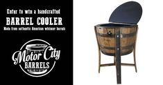 Win a handcrafted Barrel Cooler from Motor City Barrels Win Prizes, Enter To Win, Fish Camp, Giveaways, Barrel, Hunting, Fishing, Guns, Outdoors