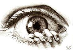 Creative+Drawings | 30 Beautiful eye macros, drawings and manipulations | #1 Design Utopia ...