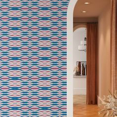Line Pattern Peel and Stick Wallpaper - Canvas Wall Decal / 1 roll: 24W x 120H