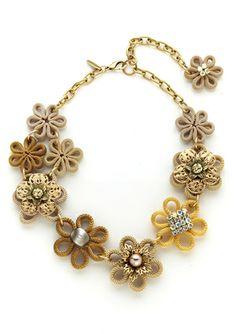 LENORA DAME Mesh Flower Necklace