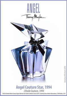 Collector's guide to Value of Thierry Mugler Angel Perfume Bottles limited edition Collecting Perfume Zara, Perfume Diesel, Perfume Bottles, Angel Parfum, Angel Fragrance, Perfume Good Girl, Best Perfume, Giorgio Armani, Beauty