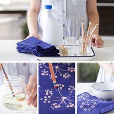 Disegnare con la candeggina per decorare tessuti e indumenti