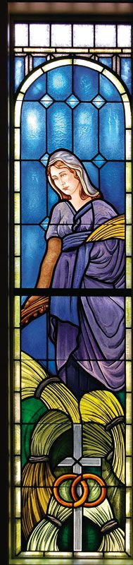 The Biblical Ruth stained glass window