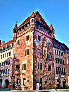 Nassau house ~ Nuremberg, Germany ~ One of the best-preserved examples of medieval tower houses