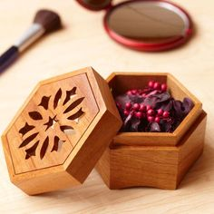 Scrollsawn Potpourri Box Woodworking Plan from WOOD Magazine Small Woodworking Projects, Small Wood Projects, Woodworking Joints, Woodworking Tips, Youtube Woodworking, Woodworking Patterns, Woodworking Machinery, Woodworking Furniture, Dremel Projects