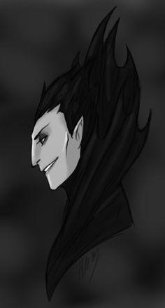 Pitch Black Fan Art. Looks a little like Vlad Plasmius from Danny Phantom.