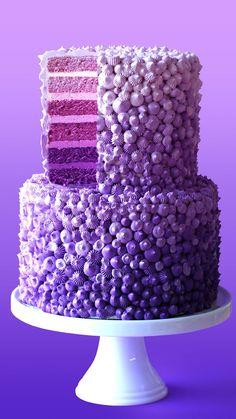 Rain Cake - Baking With The Scran Line - . Purple Rain Cake - Baking With The Scran Line - . - Torten - Purple Rain Cake - Baking With The Scran Line - . Crazy Cakes, Beautiful Cakes, Amazing Cakes, Rain Cake, Cake Decorating Videos, Cake Decorating Piping, Cake Decorating Techniques, Purple Food, Cake Videos