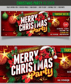 Christmas Party FB cover
