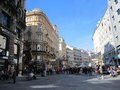 Karntner Strasse pedestrian street in Vienna, Austria