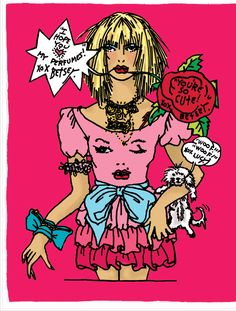 Ah Betsey Johnson...I'd like your clothes on my walls, not just in my wardrobe