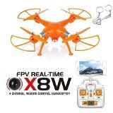 Blueskysea Free Gift Keychain + Syma X8W WiFi Real Time Video 2.4G 4ch 6 Axis Venture 4CH Gyro with 2MP Wide Angle FPV Camera RC Quadcopter RTF - Orange Version - http://dronesheaven.ianjweboffers.com/blueskysea-free-gift-keychain-syma-x8w-wifi-real-time-video-2-4g-4ch-6-axis-venture-4ch-gyro-with-2mp-wide-angle-fpv-camera-rc-quadcopter-rtf-orange-version/