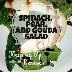 Spinach, Pear, and Smoked Gouda Salad