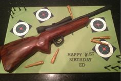 Rifle Cake ~ for all shooting enthusiasts! By Chelsea Cake Company