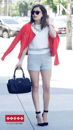 #FashionBySIMAN y Stylish Everywhere: Traen para ti una forma diferente de lucir la clásica tendencia Black & White con pequeños toques de color, que te haran lucir más moderna y a la moda: http://stylisheverywhere.com/look-of-the-day-red/