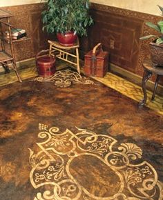 Floor Painting Ideas how to create a faux leather finish using brown paper | brown