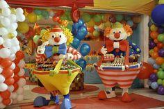 fiesta de circo payasos porta cupcakes