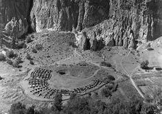 pogphotoarchives:  Tyuonyi ruins from above Rito de los http://ift.tt/1Psq9xJ