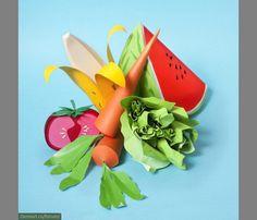 Как сделать овощи и фрукты из бумаги   Материнство - беременность, роды, питание, воспитание