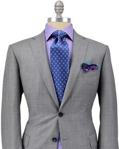 Brioni Solid Grey Suit